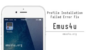 emus4u profile installation failed error